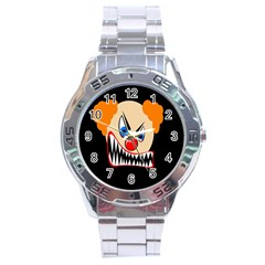 Evil Clown Stainless Steel Analogue Watch by Valentinaart