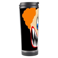 Evil Clown Travel Tumbler by Valentinaart