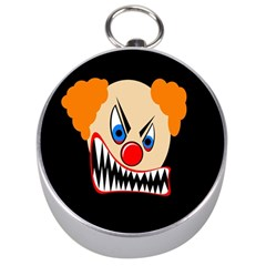 Evil Clown Silver Compasses by Valentinaart