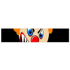 Evil Clown Flano Scarf (small) by Valentinaart