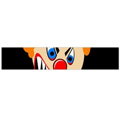 Evil Clown Flano Scarf (large) by Valentinaart