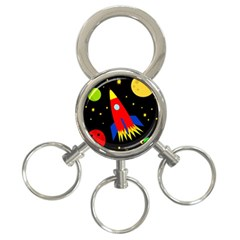 Spaceship 3 Ring Key Chains by Valentinaart