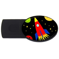 Spaceship Usb Flash Drive Oval (2 Gb)  by Valentinaart