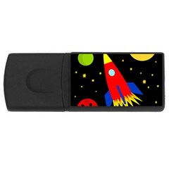 Spaceship Usb Flash Drive Rectangular (4 Gb)  by Valentinaart