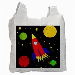 Spaceship Recycle Bag (one Side) by Valentinaart