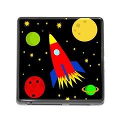 Spaceship Memory Card Reader (square) by Valentinaart
