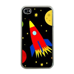 Spaceship Apple Iphone 4 Case (clear) by Valentinaart