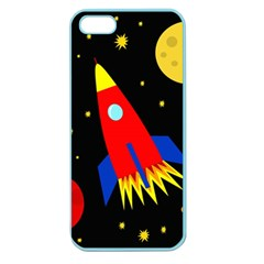 Spaceship Apple Seamless Iphone 5 Case (color) by Valentinaart
