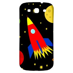 Spaceship Samsung Galaxy S3 S Iii Classic Hardshell Back Case by Valentinaart