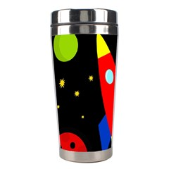 Spaceship Stainless Steel Travel Tumblers by Valentinaart