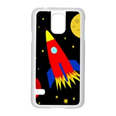 Spaceship Samsung Galaxy S5 Case (white) by Valentinaart