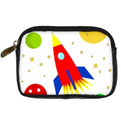 Transparent Spaceship Digital Camera Cases by Valentinaart
