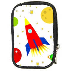 Transparent Spaceship Compact Camera Cases by Valentinaart