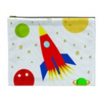 Transparent spaceship Cosmetic Bag (XL) Front