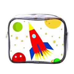 Transparent Spaceship Mini Toiletries Bags by Valentinaart