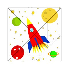 Transparent Spaceship Acrylic Tangram Puzzle (6  X 6 ) by Valentinaart