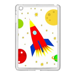 Transparent Spaceship Apple Ipad Mini Case (white) by Valentinaart