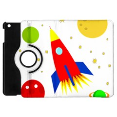 Transparent Spaceship Apple Ipad Mini Flip 360 Case by Valentinaart
