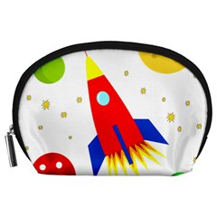 Transparent Spaceship Accessory Pouches (large)  by Valentinaart