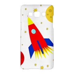Transparent Spaceship Samsung Galaxy A5 Hardshell Case  by Valentinaart
