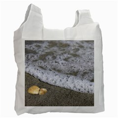 Seashells In The Waves Recycle Bag (two Side)  by PhotoThisxyz