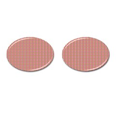 Mod Pink Green Pattern Cufflinks (oval) by BrightVibesDesign