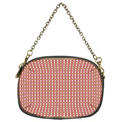 Mod Pink Green Pattern Chain Purses (two Sides)  by BrightVibesDesign