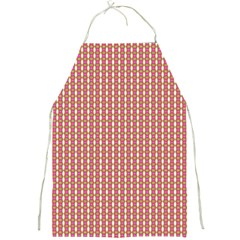 Mod Pink Green Pattern Full Print Aprons by BrightVibesDesign