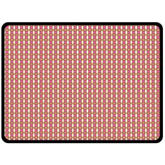 Mod Pink Green Pattern Fleece Blanket (large)  by BrightVibesDesign