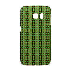 Mod Green Orange Pattern Galaxy S6 Edge by BrightVibesDesign