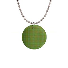 Mod Green Orange Pattern Button Necklaces by BrightVibesDesign