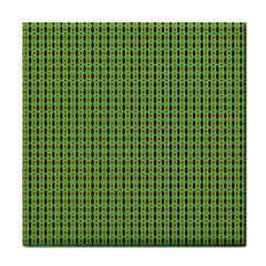 Mod Green Orange Pattern Tile Coasters by BrightVibesDesign