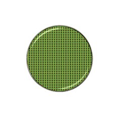 Mod Green Orange Pattern Hat Clip Ball Marker by BrightVibesDesign