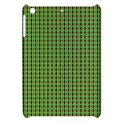 Mod Green Orange Pattern Apple Ipad Mini Hardshell Case by BrightVibesDesign
