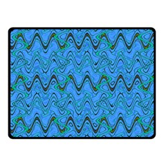 Blue Wavy Squiggles Fleece Blanket (small) by BrightVibesDesign