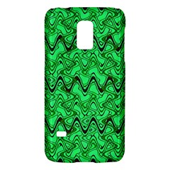 Green Wavy Squiggles Galaxy S5 Mini by BrightVibesDesign