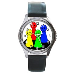 Don t Get Angry Round Metal Watch by Valentinaart