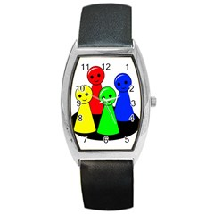 Don t Get Angry Barrel Style Metal Watch by Valentinaart