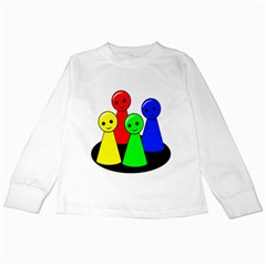 Don t Get Angry Kids Long Sleeve T Shirts by Valentinaart
