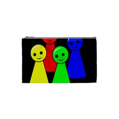 Don t Get Angry Cosmetic Bag (small)  by Valentinaart