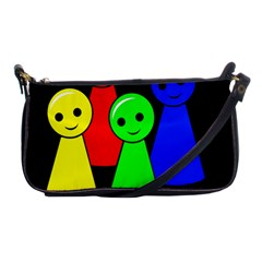 Don t Get Angry Shoulder Clutch Bags by Valentinaart