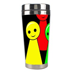 Don t Get Angry Stainless Steel Travel Tumblers by Valentinaart