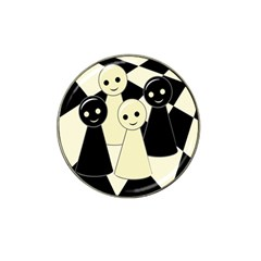 Chess Pieces Hat Clip Ball Marker (4 Pack) by Valentinaart