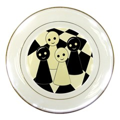 Chess Pieces Porcelain Plates by Valentinaart