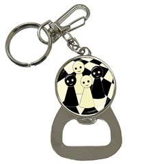 Chess Pieces Bottle Opener Key Chains by Valentinaart