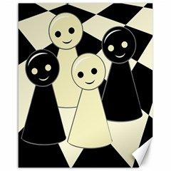 Chess Pieces Canvas 16  X 20   by Valentinaart