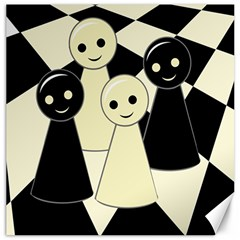 Chess Pieces Canvas 20  X 20   by Valentinaart