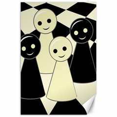 Chess Pieces Canvas 24  X 36  by Valentinaart