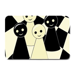 Chess Pieces Plate Mats by Valentinaart
