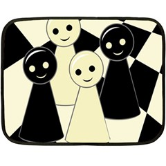 Chess Pieces Double Sided Fleece Blanket (mini)  by Valentinaart
